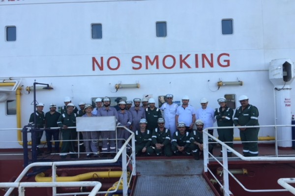 Top Management Visits onboard Bomar Mercury and Bomar Haumea
